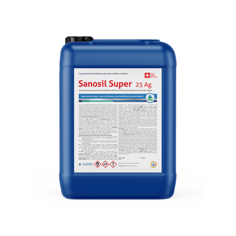 Dezinfekcia Sanosil Super 25 Ag 5kg